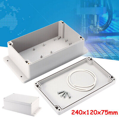 240x120x75mm Waterproof Plastic Electronic Junction Project Box Enclosure