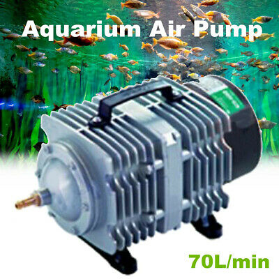70L/m Electromagnetic Air Compressor Aquarium Oxygen Fish Pond Air Pump