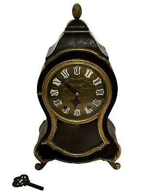 Old Watch Vintage ELUXA Neuchatel Boulle Bracket Clock Eluxa Mantel Piece WC 044