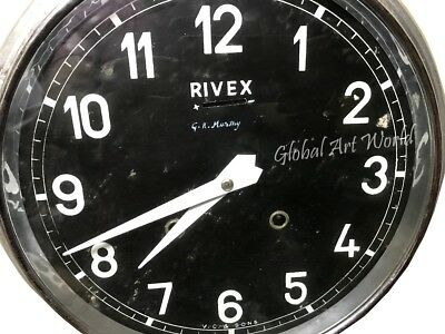 Vintage Stylized Handcrafted Rivex Black Dial & White Hands Wall Clocks HB 0161