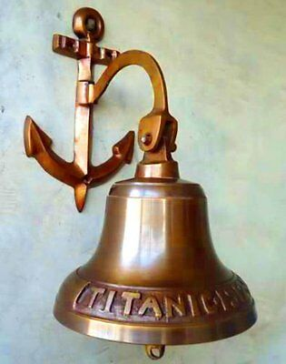 Antiquated Musical Ship Decor 5 Inch Large Titanic 1912 London Brass Bell BB 06