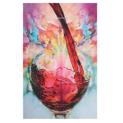 Abstract Giclee Red Wine Glass Oil Painting Canvas Print Wall Art