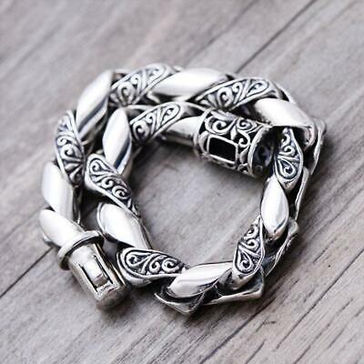 fba4aef301320b MEN 925 STERLING Solid Thai Silver Ring Lucky Braided Rotation Size ...