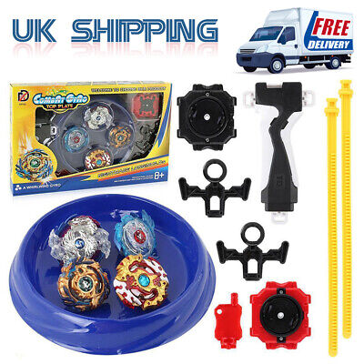 4x Boxed bayblade Beyblade Burst Set With Launcher Arena Metal Fight Battle Sets
