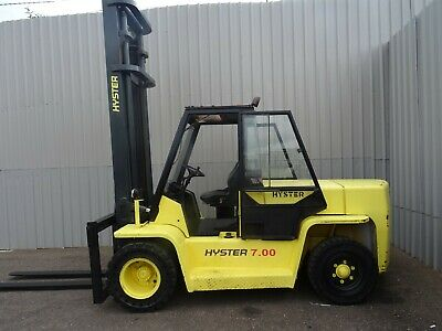HYSTER H7.00XL. 5400mm LIFT. USED DIESEL FORKLIFT TRUCK. (#2415)