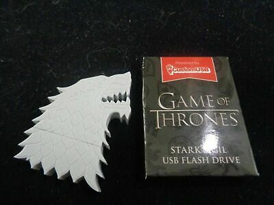 Game of Thrones Stark Sigil USB thumb flash drive HBO Loot Crate 2.0 4GB