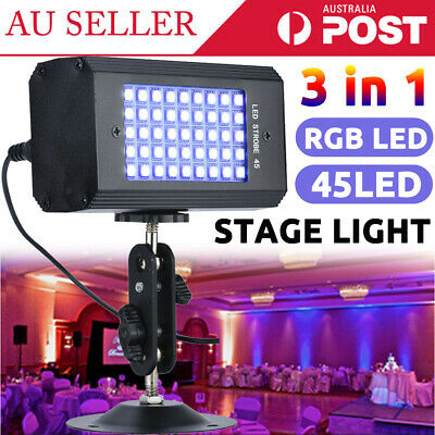 45X RGB LED Stage Light Sound Active for Disco KTV Bar Xmas Wedding Party Club