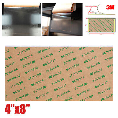 """5/8 Sheet 3M 300LSE 4""""x8"""" Double Sided Super Sticky Heavy Duty Adhesive Tape"""