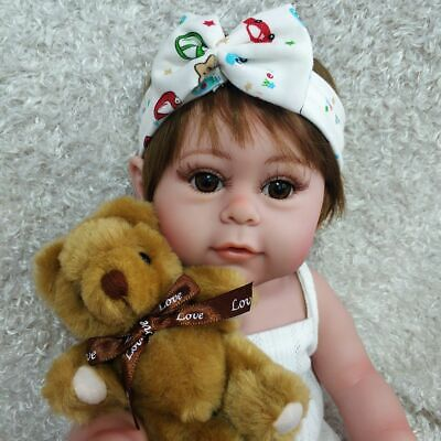"17"" Full Body Silicone Reborn Baby Doll Lifelike Waterproof Girl Doll Gifts Toys"