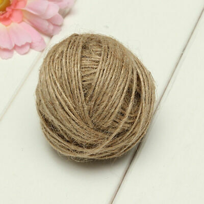 50/100M Natural Brown Jute Hemp Rope Twine Thread String Cord Shank New R9V8