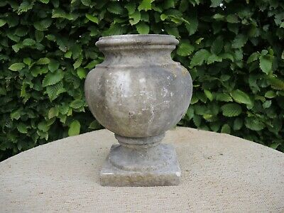 Small Antique Marble Stone  Garden Urn 25 cm high  (608)