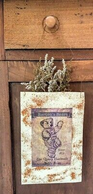 Large Primitive Grubby Herbs Pouch Peg Hanger MakeDo Dried Sweet Annie Homestead