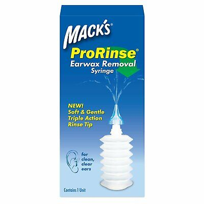 Mack's ProRinse Earwax Removal Syringe 1 kit (Pack of 4)