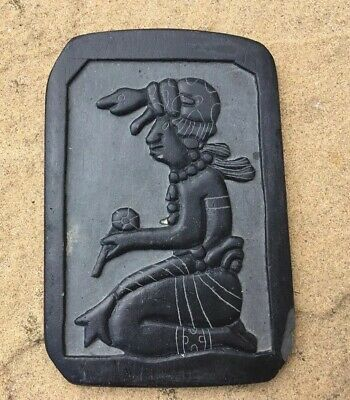 Ix Chel, Goddess Of Health /Midwifery ,Mayan Slate Carving,hand carved In belize