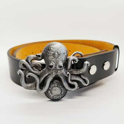 Kraken Octopus Belt Buckle Football Rocker Biker Gothic Rum Ask the Magic Paul