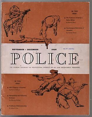 Police 11/1960-Law Enforcement Journal-wiretapping-combat shooting-VG