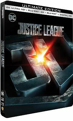 JUSTICE LEAGUE Steelbook 4K + 3D + Blu Ray NEUF SOUS BLISTER