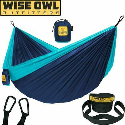 Wise Owl Outfitters Single Hammock Campingwith Tree Straps - USA Based