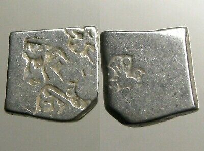 MAURYAN EMPIRE SILVER DRACHM_____3RD - 2ND CENTURY BC____Unique Abstract Punches