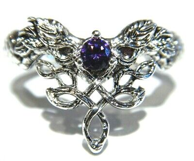 CELTIC KNOT RING twisted vines serpent dragon purple elven Irish Wiccan Goth G5