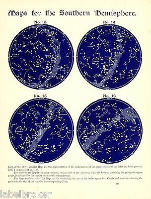ASTRONOMY  CONSTELLATIONS OF northern/southern hemisphere