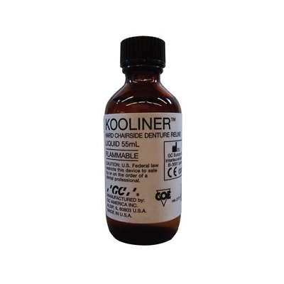 GC 345091 Kooliner Hard Chairside Denture Reline Material Liquid 2 Oz Bottle