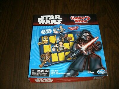 2014 Hasbro Star Wars Guess Who Game COMPLETE