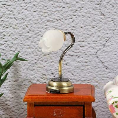 Dollhouse Miniatures Tulip flower type wall lamp LED light Battery Operated Hot