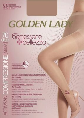 Collant Donna A Compressione Graduata Golden Lady Benessere E Bellezza 70 Den