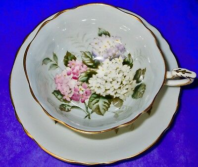 Paragon Fancy Lilac A1427 Fine Bone China Cup & Saucer 1940s
