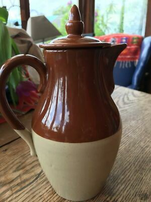 Rustic stoneware coffee hot water jug pot