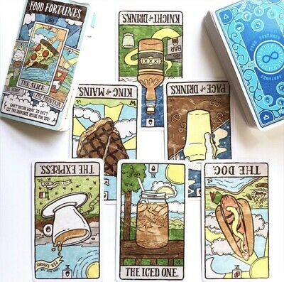 Food Fortune Tarot Deck Cards New
