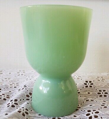Fire King Jadeite Double Egg Cup Green 1950' s Mid Century Vintage 4 inches tall