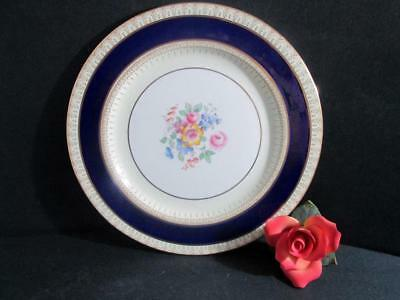 Paragon English Bone China Plate Kensington 10 1/4 Inches Cobalt Blue Gold