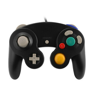 Wired USB Game Remote Controller Gamepad Joystick Black for Nintendo NGC AC1079