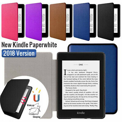 For Amazon Kindle Paperwhite 4 (2018) 3 2 Magnet Flip Leather Smart Case Cover