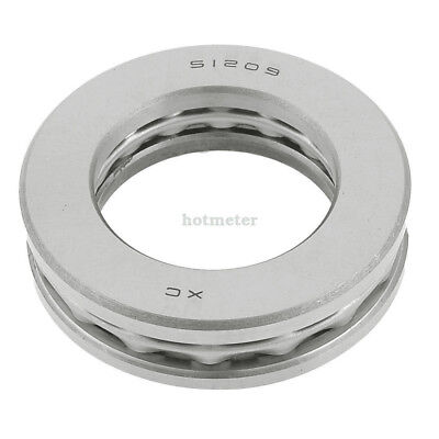 H● 51209 Auto 45x73x20mm Carbon Steel Axial Thrust Ball Bearing.