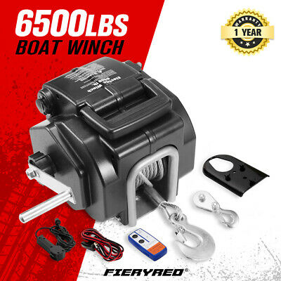 6500LBS 12V Electric Boat Winch Portable Detachable 3000KG ATV 4X4 4WD Ship