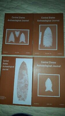 1994 Central States Archaeological Journal Vol 41 No 1,2,3,4 Arrowheads