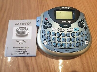 DYMO LetraTag LT-100T (1 white paper tape and batteries included)