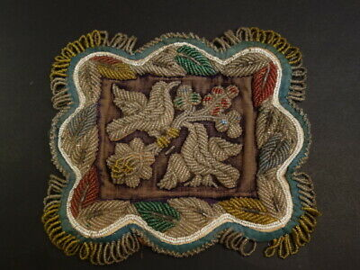 Antique Iroquois Whimsey Beaded Pin Cushion Native American Art 1900-1910 (3)