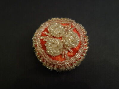 Antique Iroquois Whimsey Beaded Pin Cushion Native American Art 1900-1910 (1)
