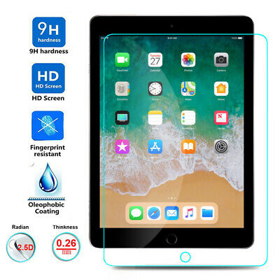 Tempered Glass LCD Screen Protector For NEW Apple iPad 6th Generation 9.7 (2018)
