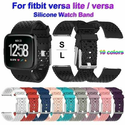 Replacement Bracelet Strap Silicone Watch Band For Fitbit Versa / Versa lite --