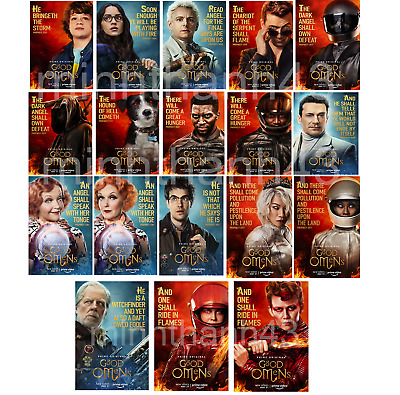"Good Omens Poster 2019 Movie TV Series All Characters Print size 11x17"" 24x36"""