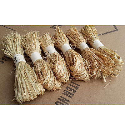 1 pc/set raffia natural reed tying craft ribbon paper twine 30g EO TSAU