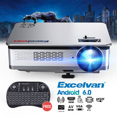 Excelvan HT60 proyector LED 1280*768 ANDROID 6.0 projector LCD EU 6000 lumen
