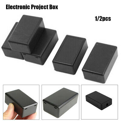 1/2 Pcs Black Electronic Project Box Waterproof Cover Project Instrument Case