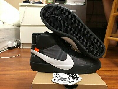 "Details about DS BRAND NEW OFF WHITE X NIKE BLAZER VIRGIL ""THE 10"" GRIM REAPER AA3832 001"