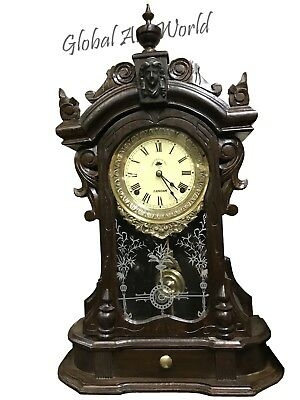 Antique Home Decor Wooden Handcrafted Made For Royal Navy Pendulum Clock HB 0146